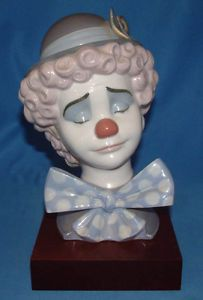Lladro Figurine 5611 Sad Clown with Base