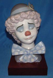 Lladro Figurine 5611 Sad Clown with Base