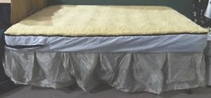 Queen Size Air Mattress with Bed Frame Fleece Mattress Cover and Carrying Case