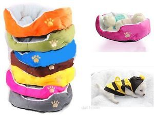 Nice Pet Dog Puppy Cat Soft Bed House Plush Cozy Nest Pet Cotton Bed Cushion Pad