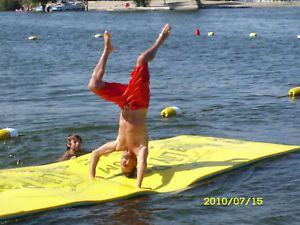 14 5' Aqua Lily Pad Floating Foam Water Island Lake Mattress Water Sport
