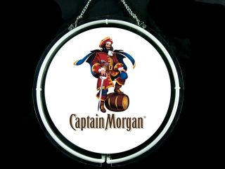 Neon 469 Captain Morgan Spiced Rum Bar Neon Sign Man Cave Happy Hour Party Time