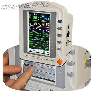 """Portable Touch Screen Vital Sign Patient Monitor Fashional 7"""" TFT 6 Parameters"""