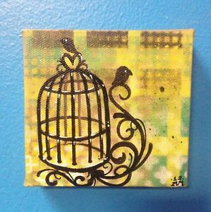 Bird Cage Painting Tattoo Art Folk Art Graffiti Art Outsider Art Birds 91