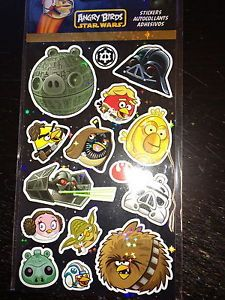 4 Sheets Angry Birds Star Wars Stickers Party Favors Teacher Supply