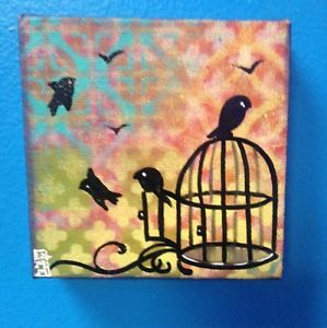 Bird Cage Painting Tattoo Art Folk Art Graffiti Art Outsider Art Birds 89