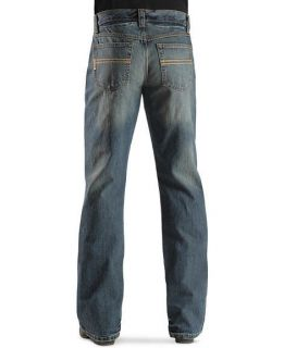 Cinch Western Jeans Mens Carter Whiskered Medium Stonewash MB96134001