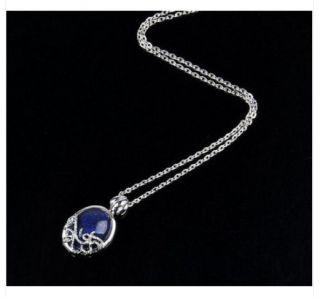 Vintage Vampire Diaries Katherine Anti Sunlight Lapis Lazuli Retro Necklaces