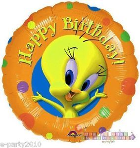 Looney Tunes Tweety Bird Round Mylar Balloon Birthday Party Supplies