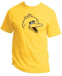 "Adult Sesame Street ""Big Bird"" T Shirt Mens s M L XL 2XL 3XL 4XL 5XL 6XL"