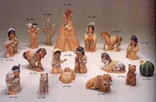 Ceramic Bisque 17 Piece Indian Children Nativity Set U Paint