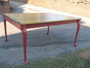Antique Primitive Oak Farm Table Refinished One Of A Kind Over 5 Feet Long