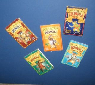 Lot 5 Redwall Series Tribes Map Books Brian Jacques New
