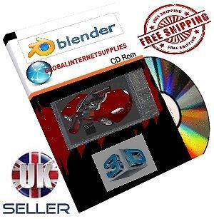 ★3D Blender 2013★ 3D Animation Graphics Cartoon Studio Design Software CD