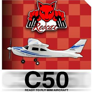 Mini Sonic Cessna Brushless C50 RC Airplane 3 Channel 2 4GHz 4 CH Radio RTF