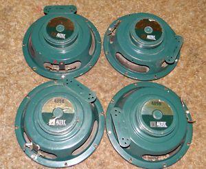 Altec Lansing 409B Speakers 8 inch 8 Ohm Needs Reconed 4 Speakers