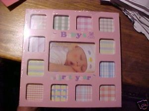 394148b0ad1 ... Baby s First 1st Year Picture Frame ...