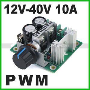 12V 40V 10A Pulse Width Modulation 13kHz PWM DC Motor Speed Control Switch