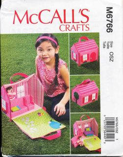 ©2013 McCalls Pattern 6766 Fabric Fold Out Doll House Furniture Rag Doll