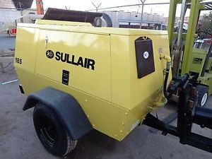 2000 Sullair 185 CFM 125 PSI Portable Air Compressor Deere Diesel
