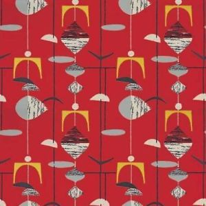 Pillar Box Red Black 210212 Mobiles 50s Collection Sanderson Wallpaper