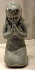 Isabel Bloom Retired Figurines Blessings Girl Prayer Kneeling Signed Sculpture
