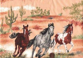 Custom Made Scrubs 4U Medical Nurse Vet Doctor Scrub Top Wild Horses Southwest