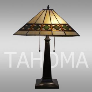 New Elegant Affordable Tiffany Style Stained Glass Mission Palouse Table Lamp