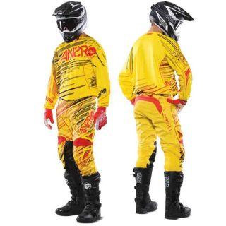 Answer Racing JSC James Stewart Rush Motorcross Pants Yellow Red MX