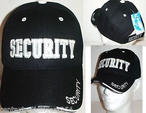 Security Guard Law Enforcement Officer Safety Patrol Uniform Hat Ball Cap New