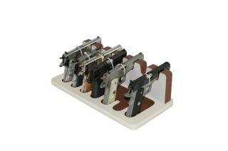 Creighton 7 Slot 05 White Brown Semi Auto Gun Rack for Safes Display Storage