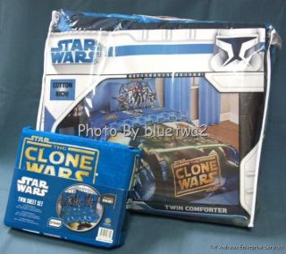Star Wars Clone Comforter and Twin Sheets Yoda Set Quilt Storm Troopers Fighter