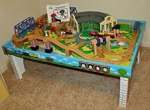 ... Thomas Wooden Railway \u2013 Tidmouth Sheds Deluxe Set w Island of Sodor Play Table ... & RARE Thomas Wooden Railway 1992 Terence Flat Magnets Staples