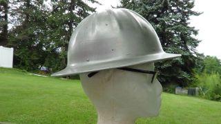 Vintage Aluminum Logger Construction Miner Hard Hat McDonald Mine Safety
