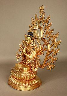 Avalokiteshvara Chenrezi Buddha Statue Sculpture Figure Tibetan Buddhism Bronze