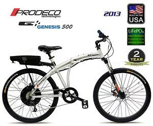 2013 Prodeco Technologies Genesis 36V 500W LiFePO4 Electric Bicycle Bike EBike