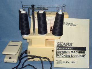 Kenmore Lock Sewing Machine 4 Thread Serger Model 81464 User Manual