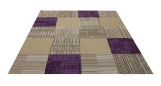 "Flor Vineyard Area Rug Tile Kit 6' 5"" x 8' 2"" 20 Tiles of 19 7"" x 19 7"""