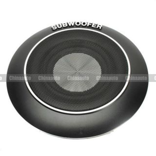 6 inch Car Powered Audio Amplified Subwoofer Woofer 2 Channel 140W Black 10 15V