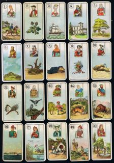 Vintage 85yrs Cigarette Card Fortune Telling Tarot Type