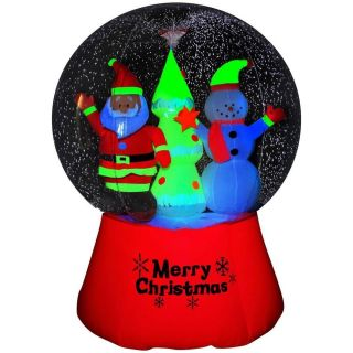6ft Neon Santa Snowman Globe Airblown Inflatable Outdoor Christmas Yard Decor