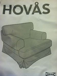 Ikea Hovas Chair Slipcover Hjulsbro Gray Brown