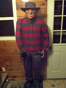 Animated Life Size Freddy Krueger 6ft Tall Halloween Prop