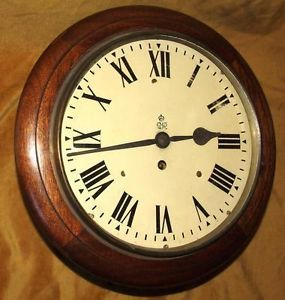 Authentic Mahogany GPO Single Fusee Wall Clock with 10 inch Dial Number 20912