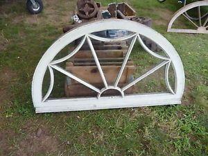 "WOW c1870 Vintage Arched Spider Web Design Window Frame Sash 42 x 24 x 1 7 8"""