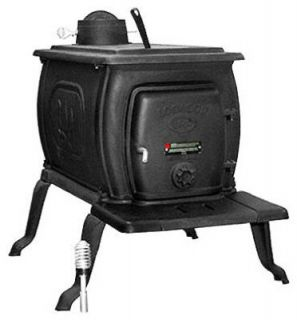 US Stove 2421 35000 BTU 1000 SF Large Logwood Cast Iron Wood Stove
