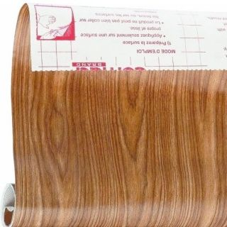 Oak Wood Grain Contact Paper Shelf Liner 6ft