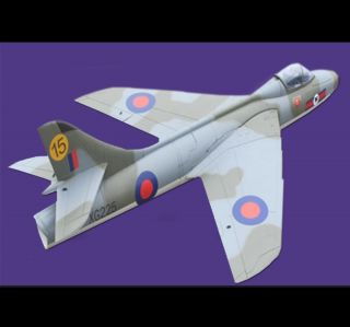 Hawker Hunter 1 1M Wing Span 1 5M Length EPO Electric RC Jet Airplane Grey