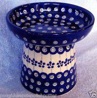 Polish Pottery Raised Cat Dog Dry Food Dish Bowl 166A