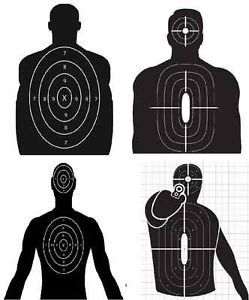 Pistol Paper Targets Army Air Force Marine Ranger Target 12 Qty 319 303 305